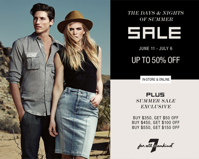 7 For All Mankind - The Days + Nights Of Summer Sale
