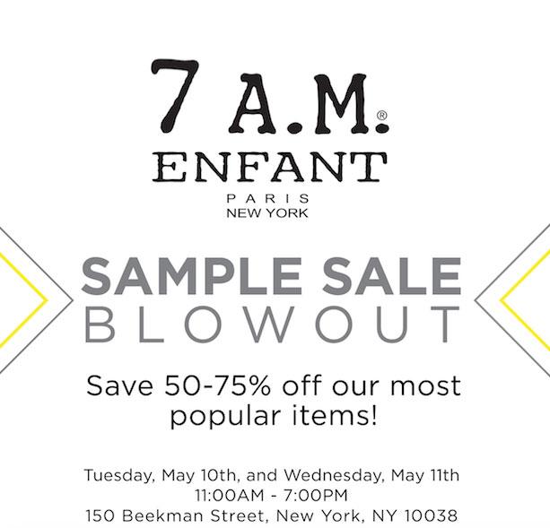 7AM Enfant Sample Sale