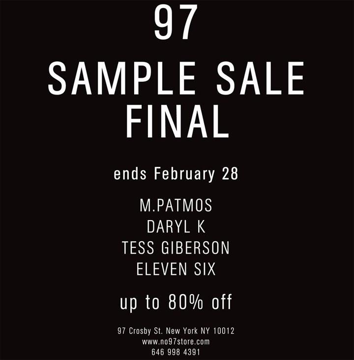 M.Patmos, Tess Giberson, & More Sample Sale