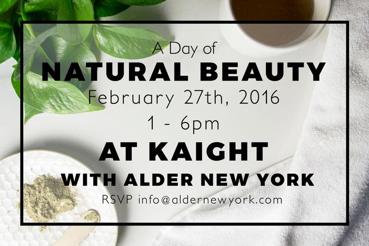 A Day of Natural Beauty at Kaight