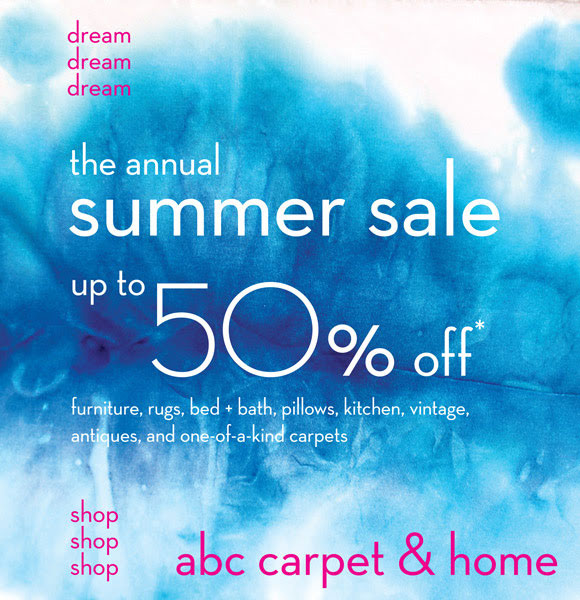Abc carpet home new york annua summer sale for Abc carpet outlet sale