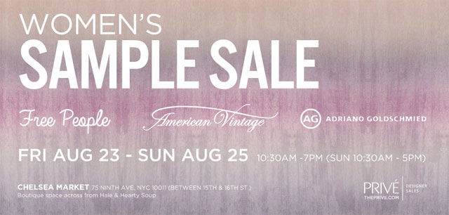 AG Adriano Goldschmied, Free People, & More Sample Sale