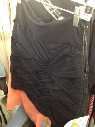 A.L.C. Black Ruffled Mini Skirt with a broken zipper ($169)