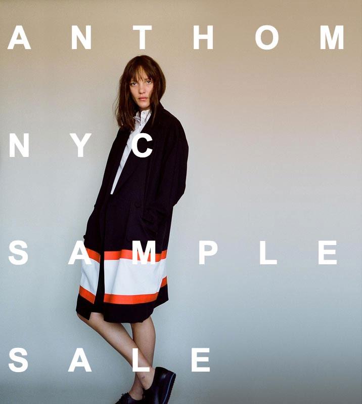 ANTHOM NYC Sample Sale