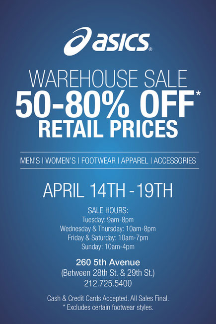ASICS Warehouse Sale