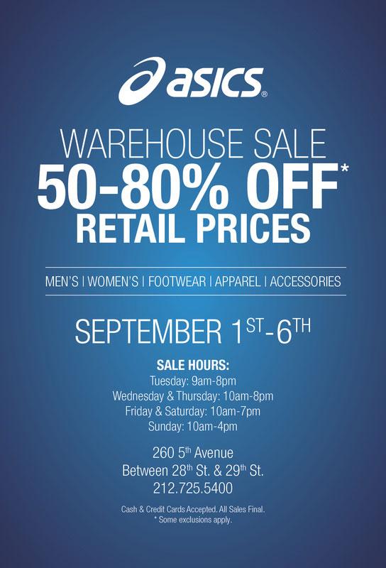 ASICS Warehouse Sale