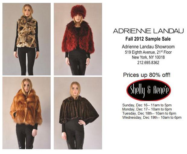 Adrienne Landau Fall 2012 Sample Sale