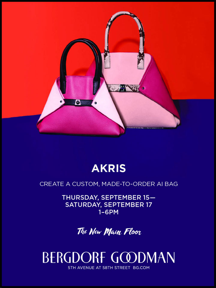 Akris Handbags Customization Event