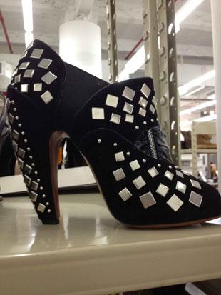 Alai Low Cut Black Suede Heels w/ Silver Detail in Size 11 ($1,019, orig. $2,040)