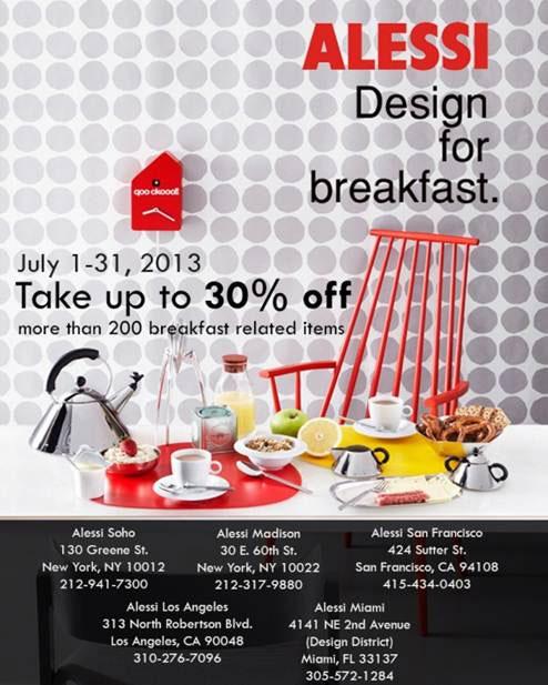 Alessi Design For Breakfast Sale
