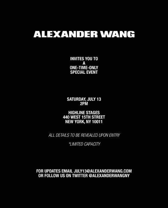 Alexander Wang Secret High Line Event