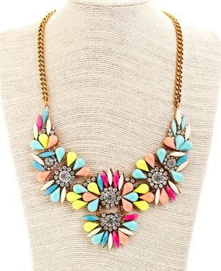 Neon statement necklace: $26 (retail price $130)