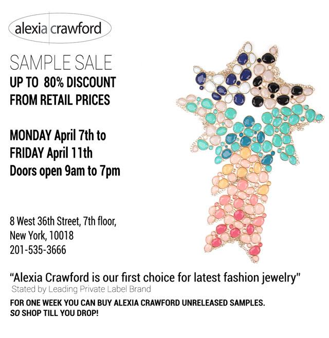 Alexia Crawford Sample Sale