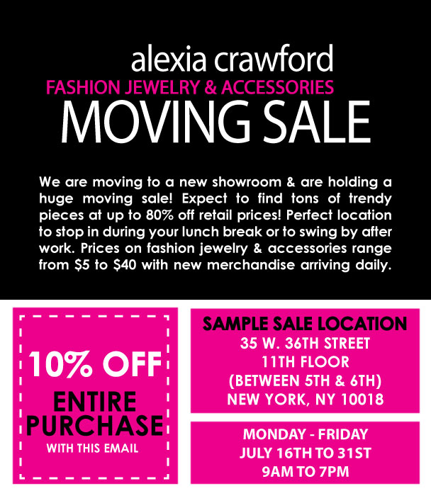 Alexia Crawford Moving Sale