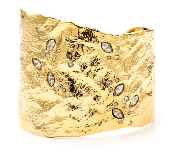 Asymmetrical Rocky Cuff with Crystal Navette Accents. Retail: $295. Sample Sale Price: $100