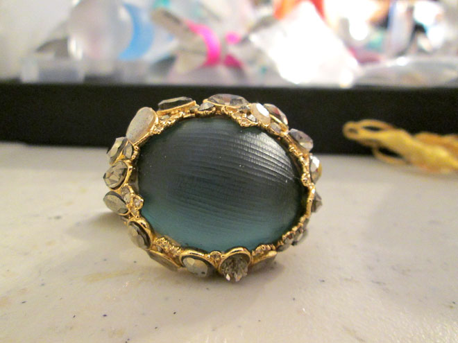 Large stone in a gold dipped setting for around $200