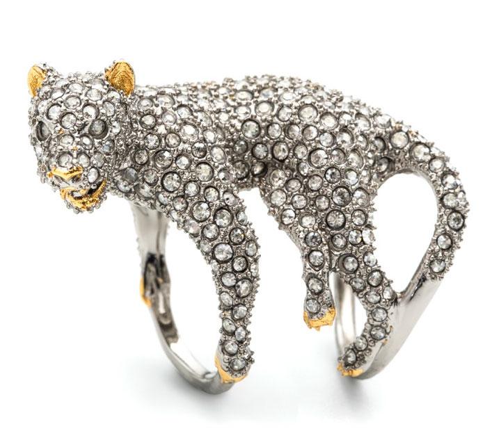 Crystal Encrusted Panther Ring. Retail: $275. Sample Sale Price: $125