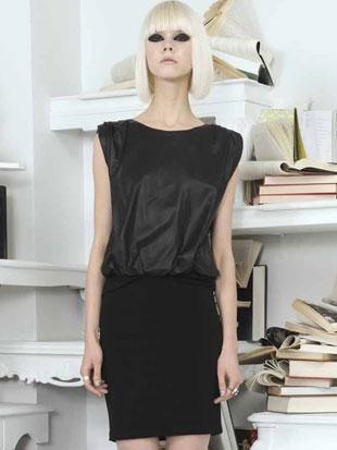 Alice + Olivia Madeline Leather Boxy Fitted Skirt Dress ($129, orig. $495, size 6)