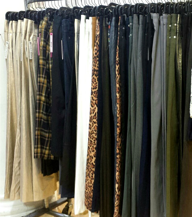 Plenty of pants in solids and prints