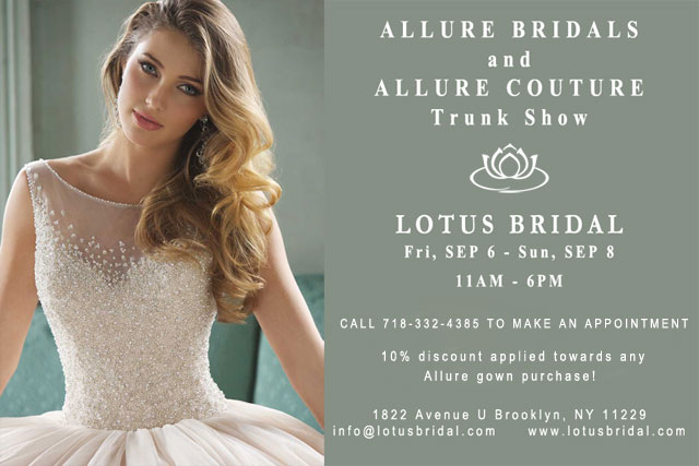 Allure Bridal and Allure Couture Trunk Show