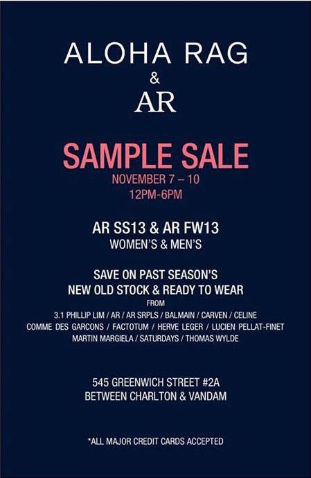 Aloha Rag & AR Sample Sale