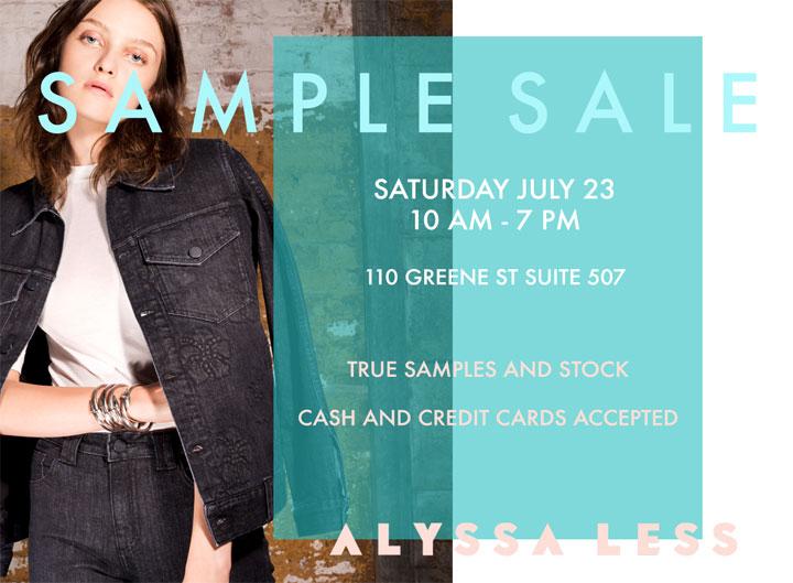 Alyssa Less Denim Sample Sale