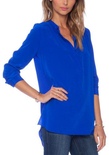 Amanda Uprichard Long Sleeve Silk Top: $80 (orig. $200)