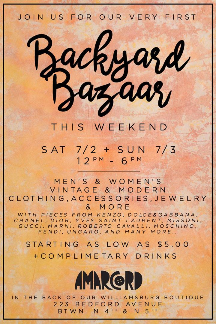 Amarcord Vintage Backyard Bazaar