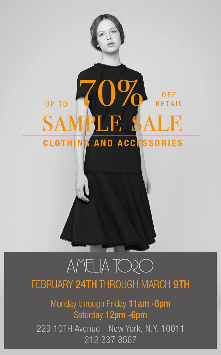 Amelia Toro Sample Sale