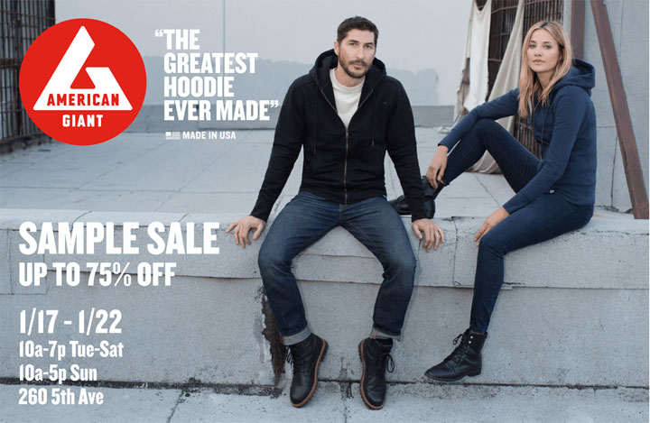 American Giant Sample Sale