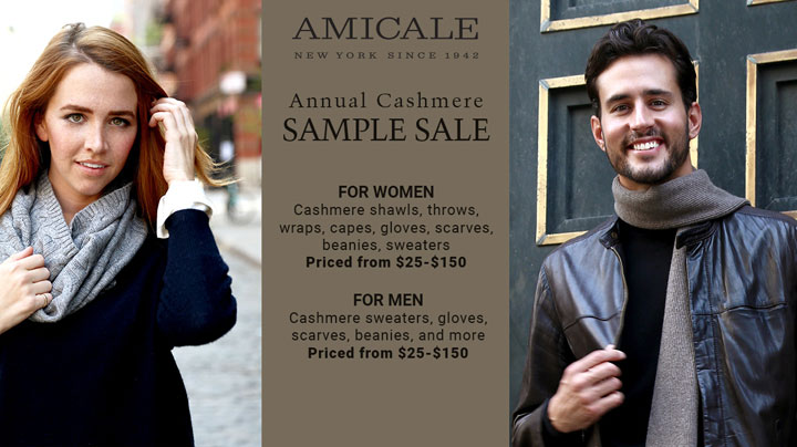 Amicale Cashmere Sample Sale