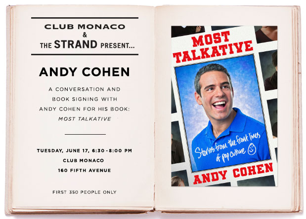 Andy Cohen Meet-and-Greet at Club Monac
