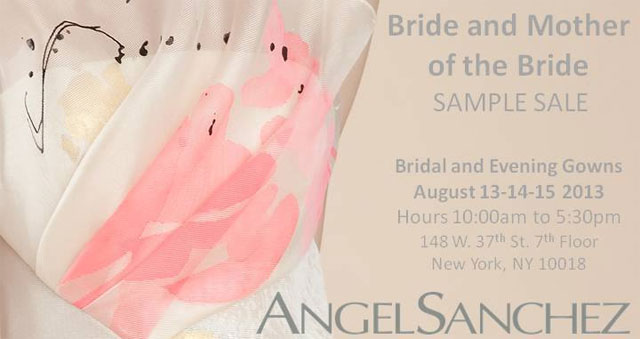 Angel Sanchez Sample Sale