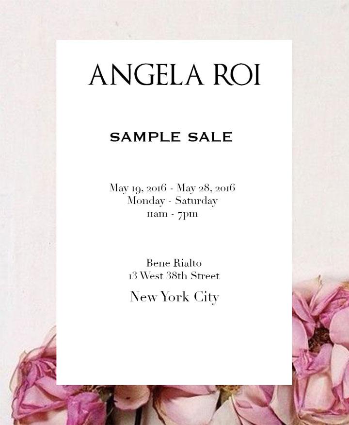 Angela Roi Sample Sale