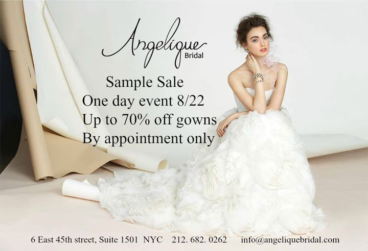Angelique Bridal » New York Bargains