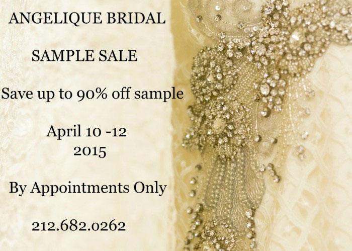 Angelique Bridal Sample Sale