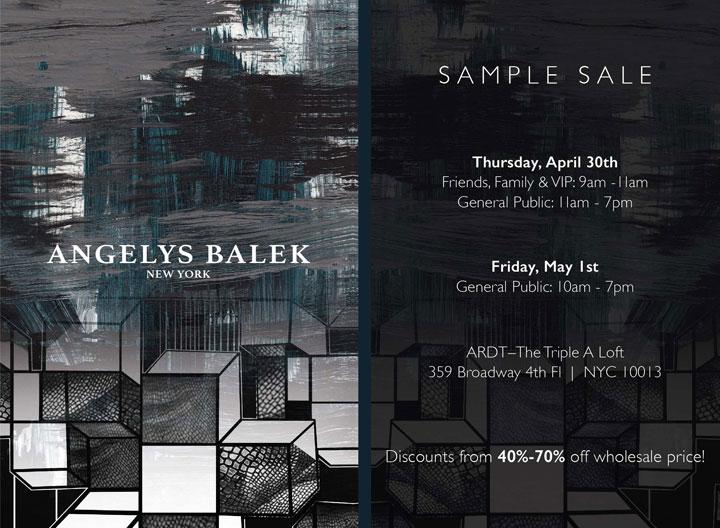 Angelys Balek Sample Sale