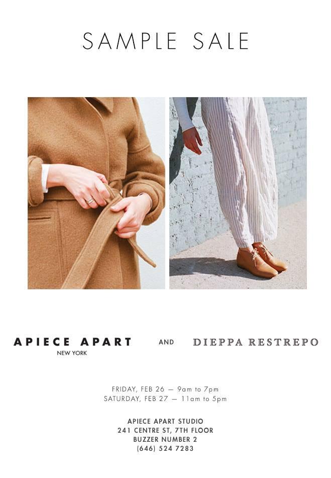 Apiece Apart & Dieppa Restrepo Sample Sale