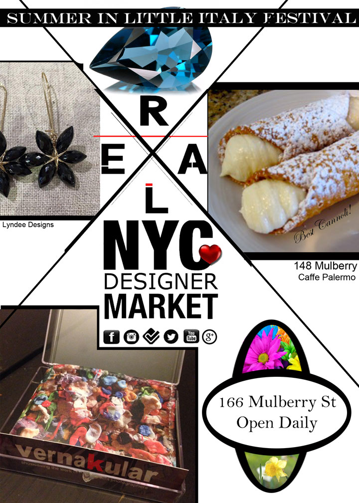 Real NYC Designer Market Festival in Little Italy