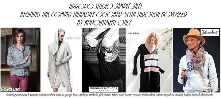 Apropo Studio Bi-annual Sample Sale