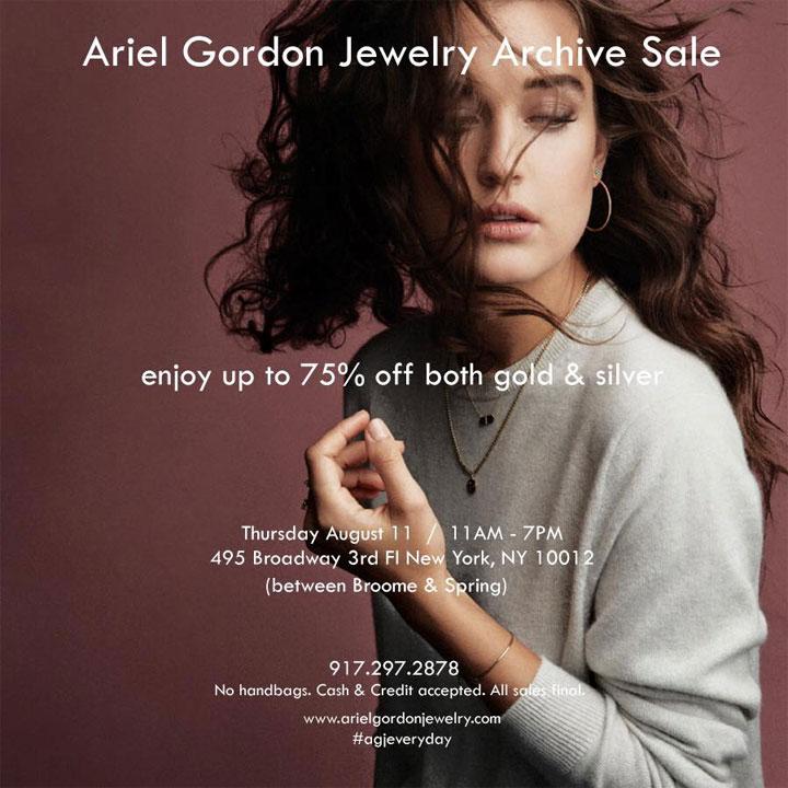 Ariel Gordon Jewelry Archive Sale