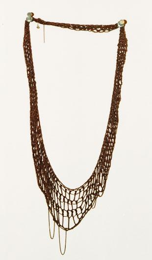 Arielle de Pinto Lattice Collar in Rose Dust (now $375)