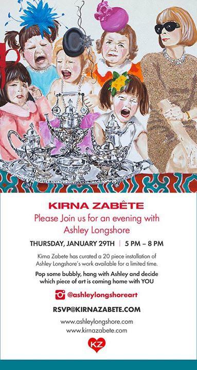 Ashley Longshore at Kirna Zabete