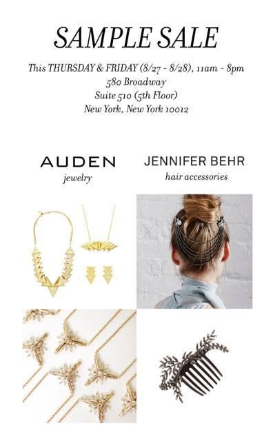 Auden & Jennifer Behr Sample Sale