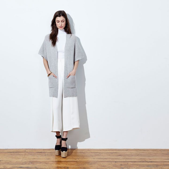 Autumn Cashmere Ribbed Duster - regular $396, on sale for $155