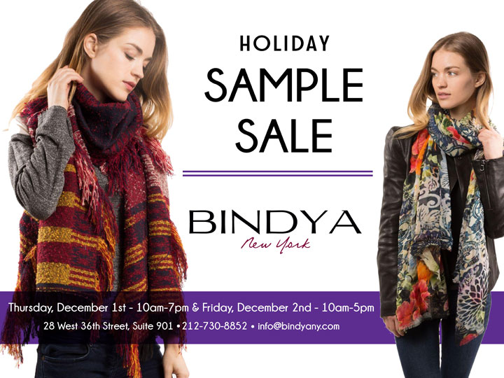 Bindya Holiday Sample Sale