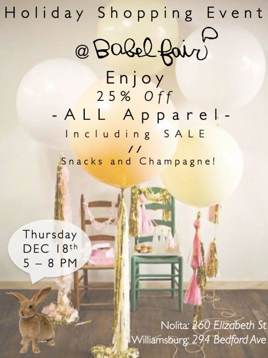 Babel Fair Holiday Shopping Event