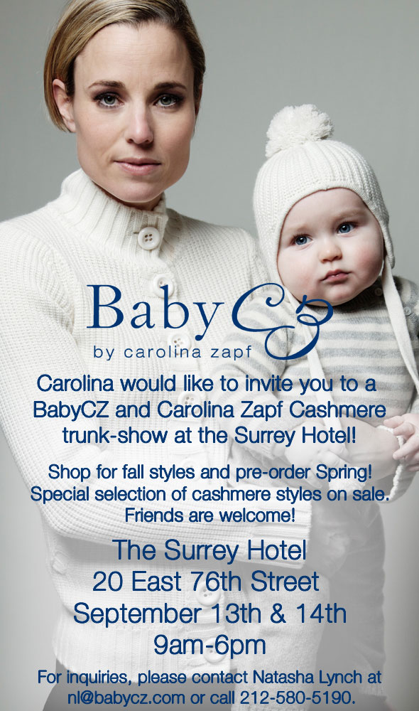 BabyCZ by Carolina Zapf Trunk Show