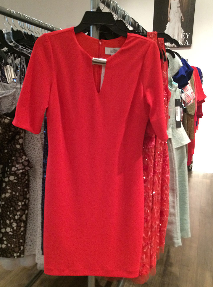 Coral shift dress for $50.70