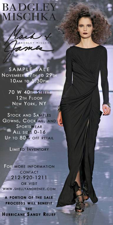Badgley Mischka Sample Sale